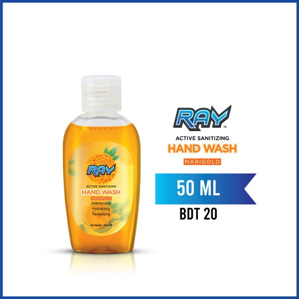 RAY Active Sanitizing Hand Wash 50ml Marigold