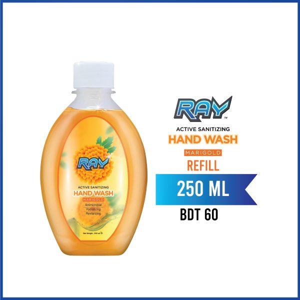 RAY Active Sanitizing Hand Wash Refill 250ml Marigold