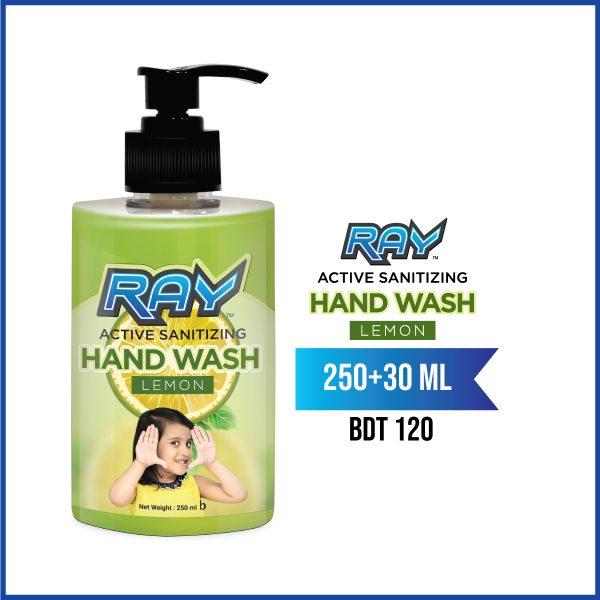 RAY Active Sanitizing Hand Wash 280ml Lemon