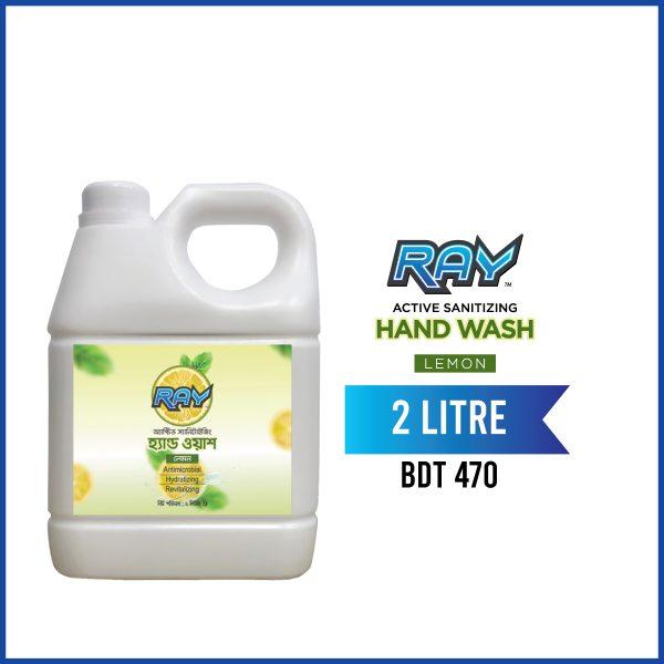 RAY Active Sanitizing Hand Wash Refill Lemon 2 Liter