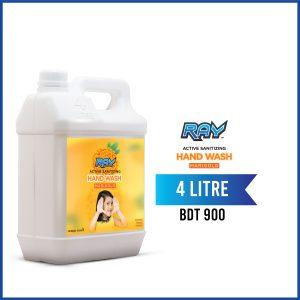 RAY Active Sanitizing Hand Wash Refill 4 Liter Marigold