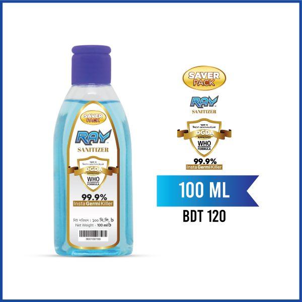 RAY Sanitizer Blue 100ml Saver Pack