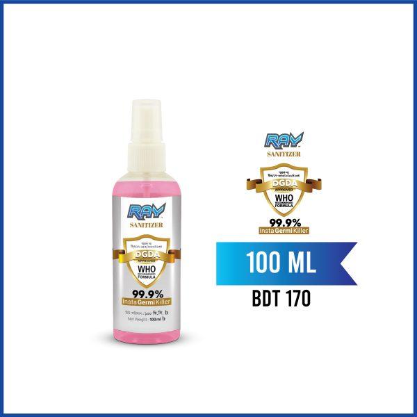 RAY Sanitizer Spray Pink 100ml